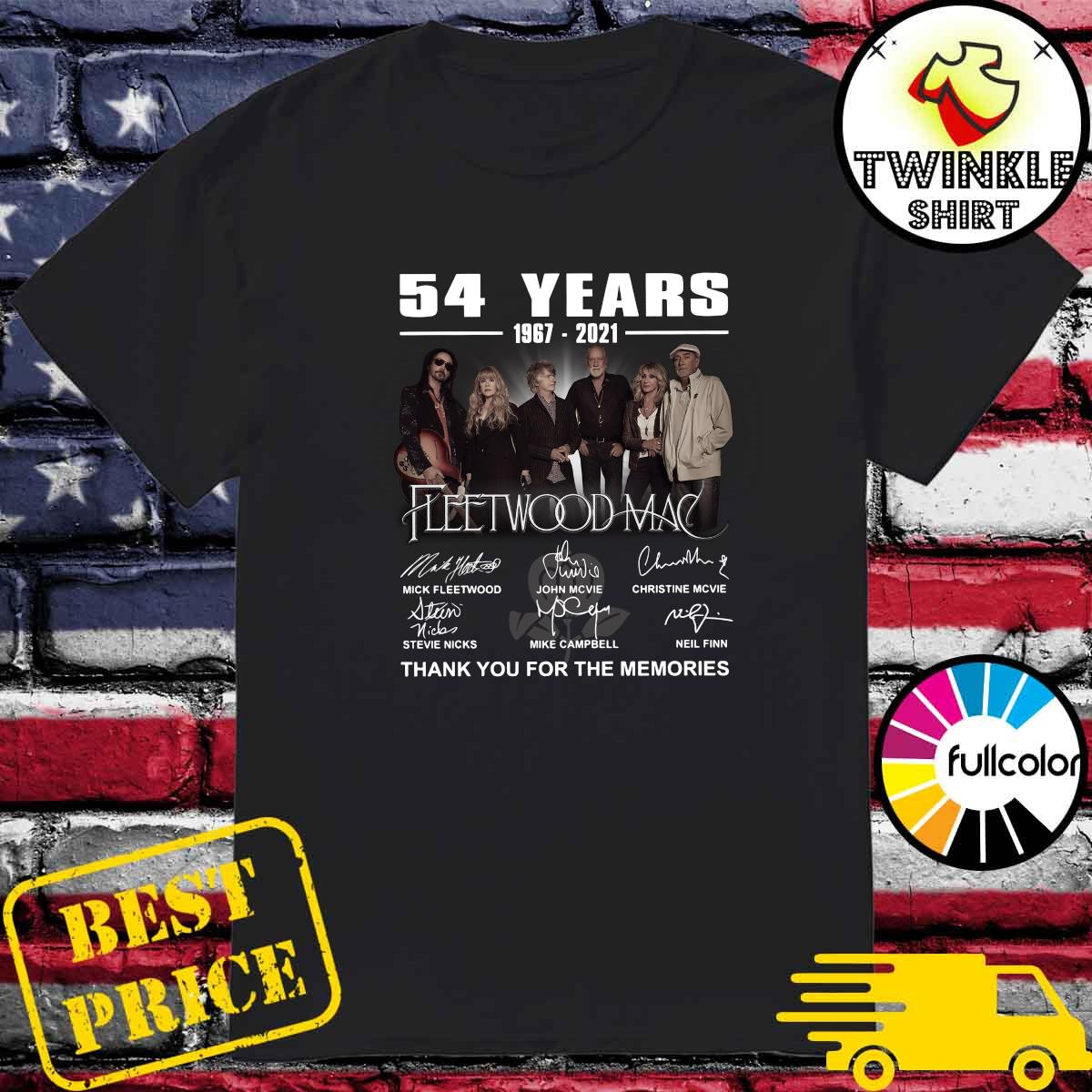 54 Years 1967 2021 Of The Fleetwood Mac Signatures Thank You For The Memories Shirt