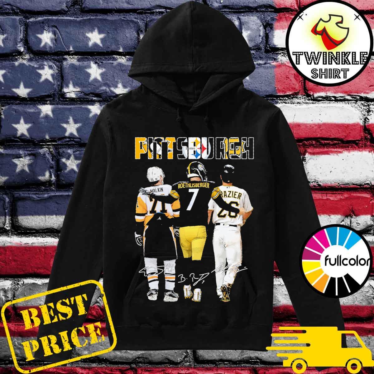 Pittsburgh Steelers Malkin Roethlisberger Raizer signatures s Hoodie