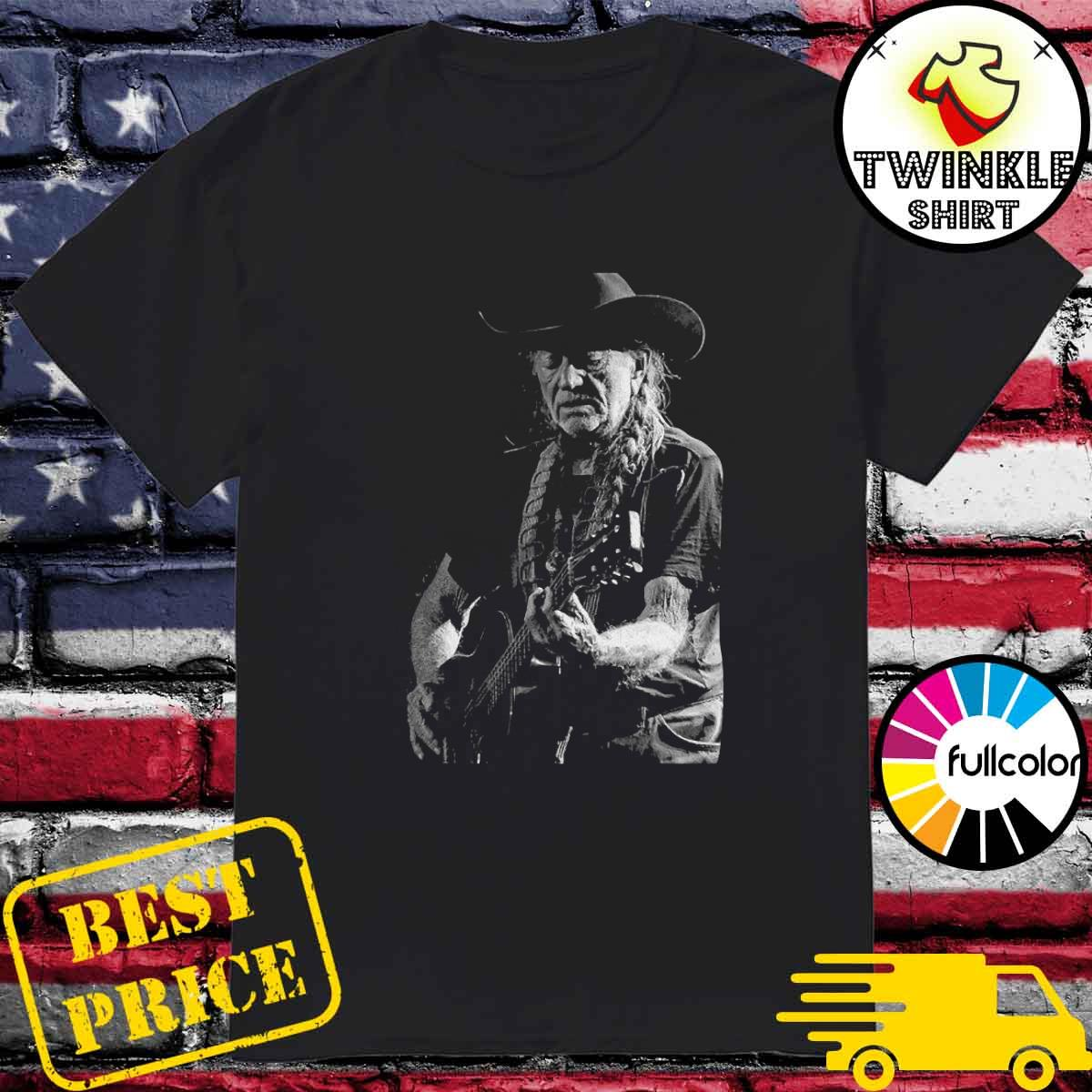 Willie Nelson Playing Guitar Shirt