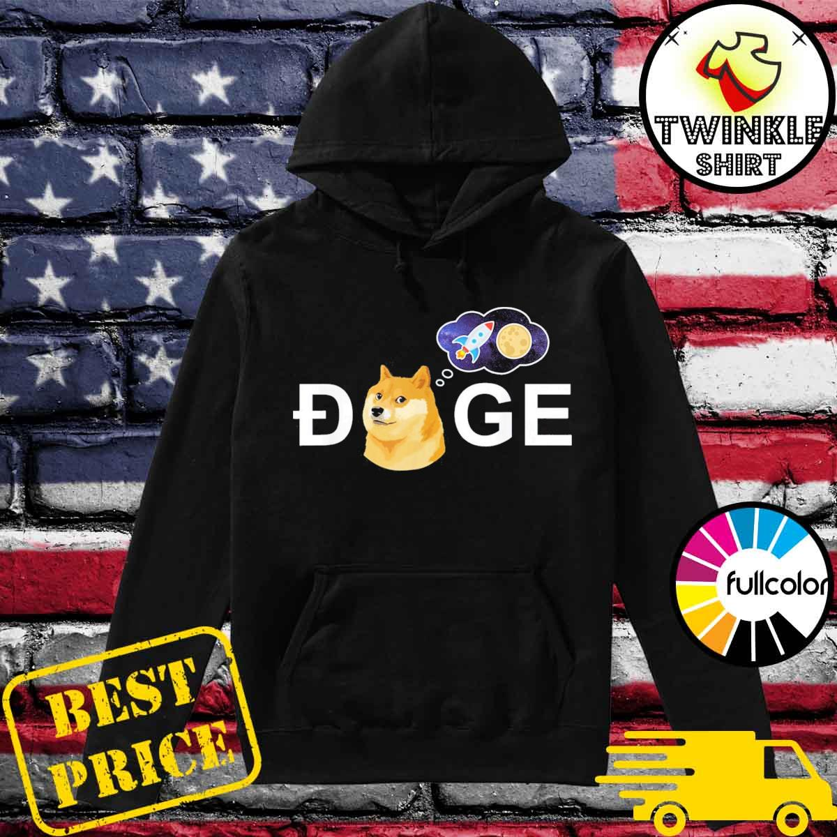 Dogecoin Doge HODL To the Moon Crypto Meme T-Shirt Hoodie
