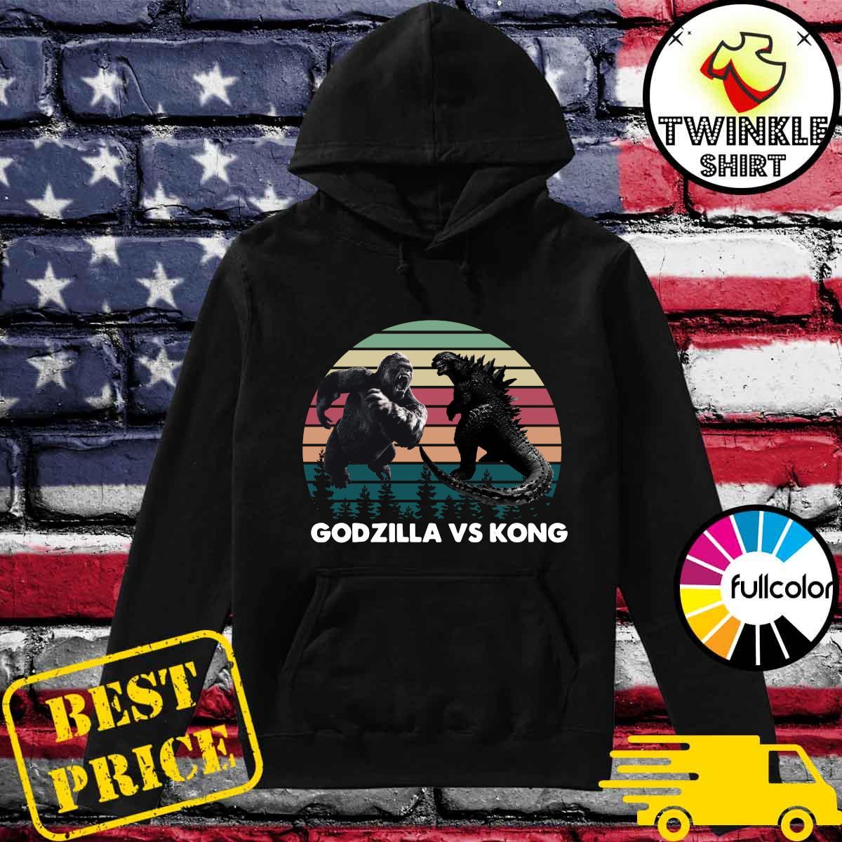 Godzilla vs Kong Shirt, Kaiju Godzilla Retro Kong Shirt Rodan Mothra Monster, Godzilla Shirt Hoodie