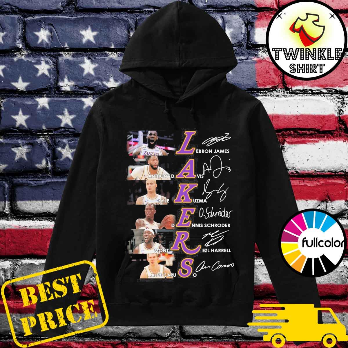 Official La Los Angeles Laker Basketball Players Signatures Shirt Hoodie