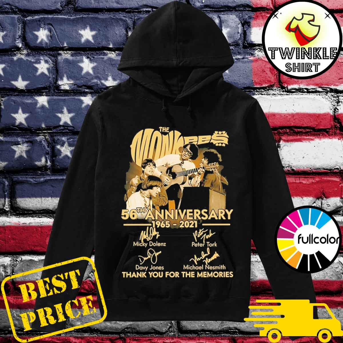 Official The Monkees 56th Anniversary 1965 2021 Signatures Thank You For The Memories Shirt Hoodie