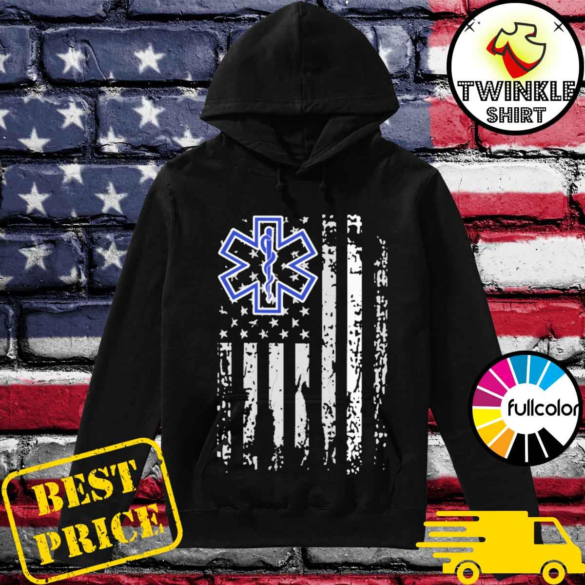 Official Thin White Line EMS EMT Paramedic T-Shirt Hoodie