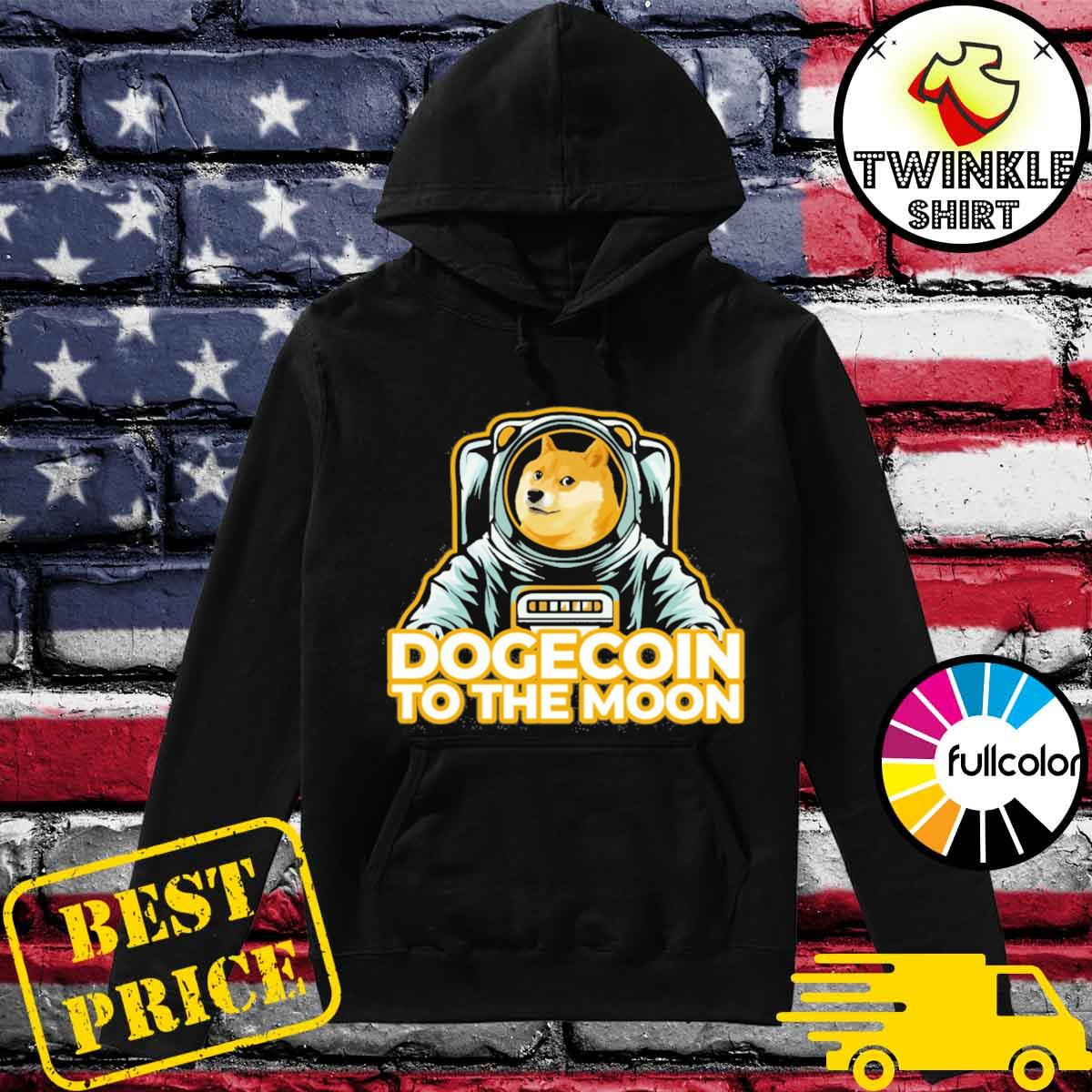 Shiba Dogecoin To The Moon Shirt Hoodie