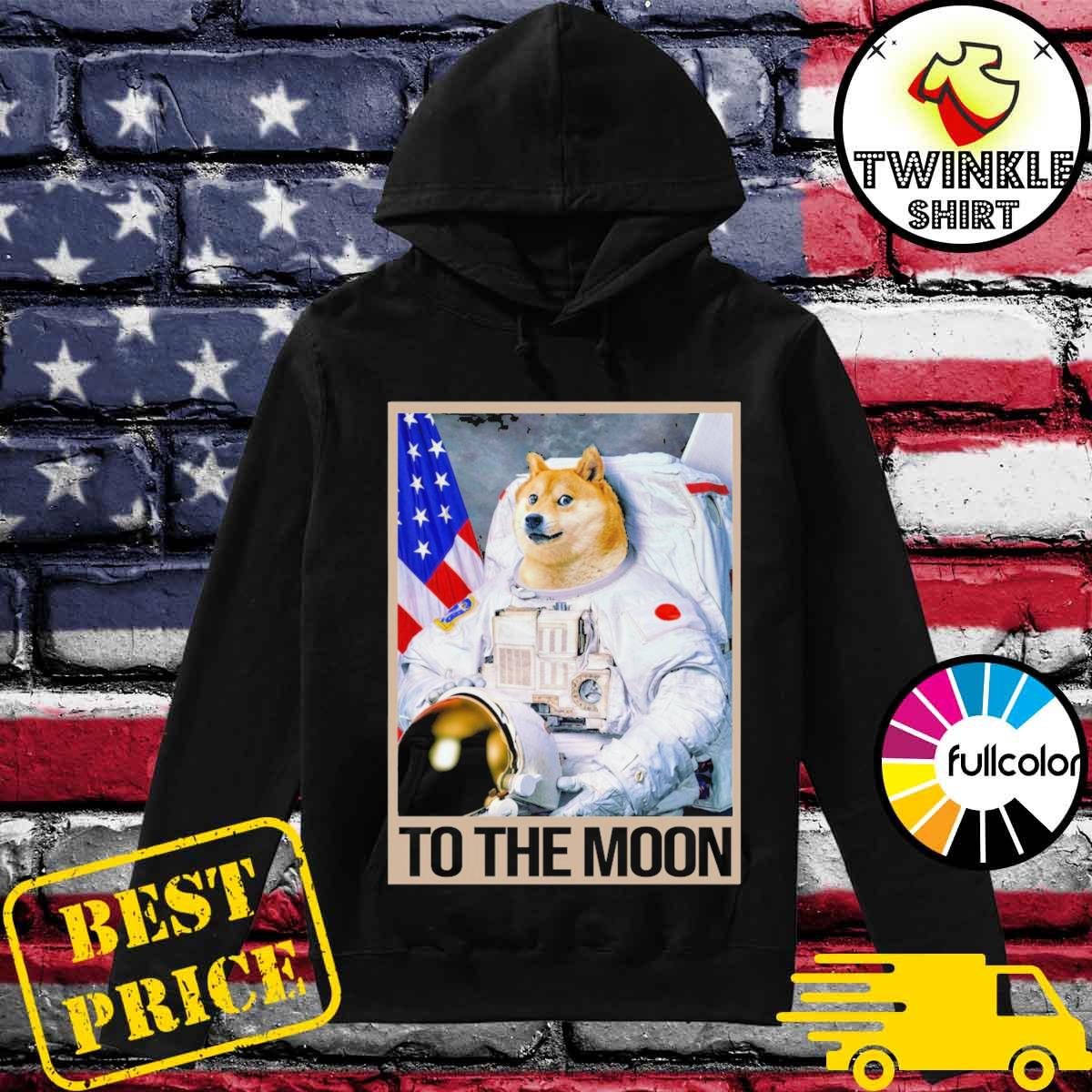 Shibainu Astronaut Dogecoin To The Moon Shirt Hoodie