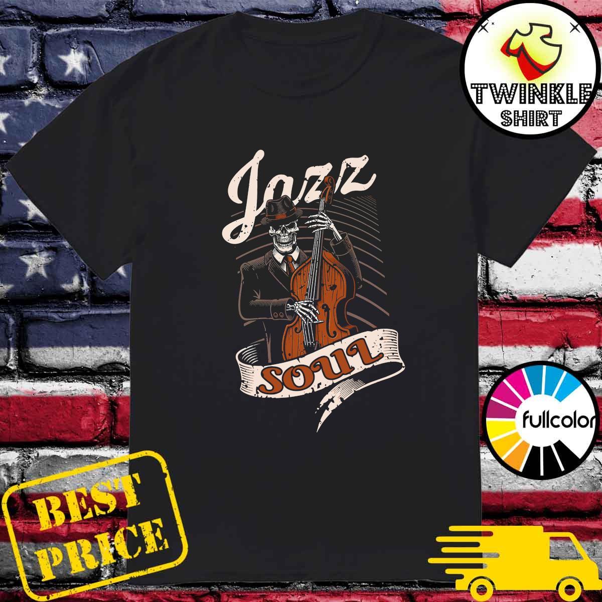 Skeleton Playing Guitar Jazz Soul Shirt